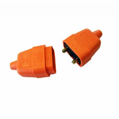 Flex Connector 10amp 2 pin Rubber Connector  Orange Lyvia 9412OR0